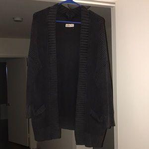 Black hollister knit cardigan size M/L like new